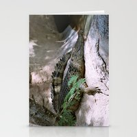crocodile Stationery Cards featuring crocodile by lennyfdzz