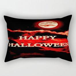 Happy Halloween Red Moon Rectangular Pillow