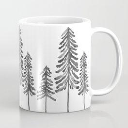 Pine Trees – Black Ink Coffee Mug