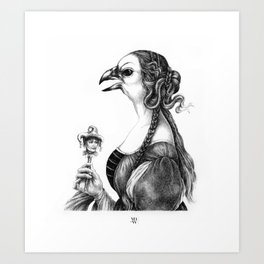 Tête-à-tête with Botticelli Art Print