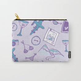 World travel memories sketch pattern Carry-All Pouch