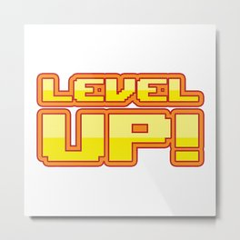 Level up Metal Print