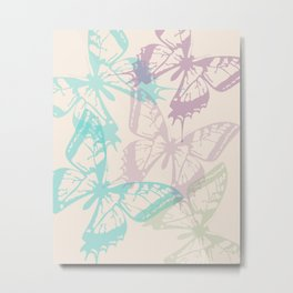 Soft Butterflies Metal Print