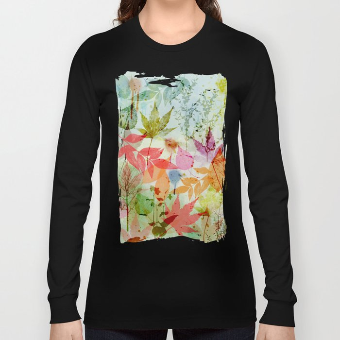 Fall impression, digital water colour art Long Sleeve T-shirt