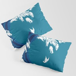Waves Llama Pillow Sham