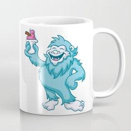 cartoon yeti eating ice cream Coffee Mug