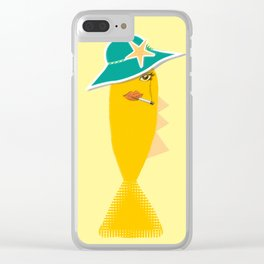 Hilda The Smoked Haddock Clear iPhone Case