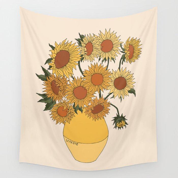 Van Gogh Sunflowers Wall Tapestry