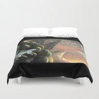dragons Duvet Covers featuring Dragons by Nell Fallcard