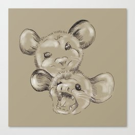 Two Sides to Every Possum Canvas Print