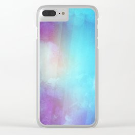 Dream - Watercolor Painting Clear iPhone Case