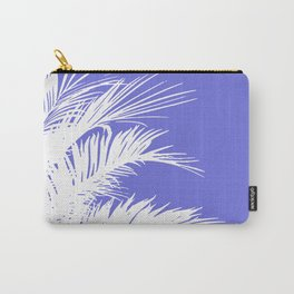 Palm Leaves V Purple & white Carry-All Pouch