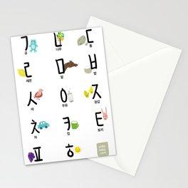 Korean (Hanguel/Hangul) illustration Poster Stationery Cards