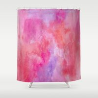 valentine Shower Curtains featuring Valentine by HollyJonesEcu