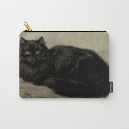 Vintage Painting of a Black Cat (1903) Carry-All Pouch