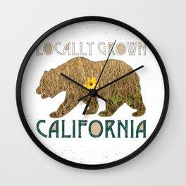 Locally Grown: California 2 Wall Clock