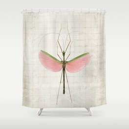Pink Walking Stick Shower Curtain