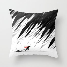 Geometric Storm Throw Pillow