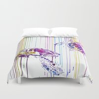 turtles Duvet Covers featuring Turtles by Lexi Hannah