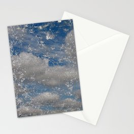 cracked cell phone with sky Stationery Cards