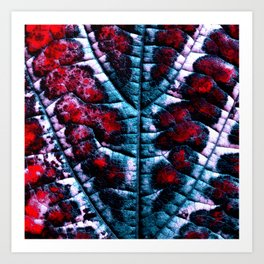 leaf structure abstract XVI Art Print