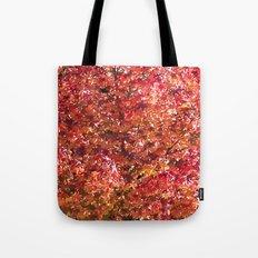 Red Leaves Tote Bag