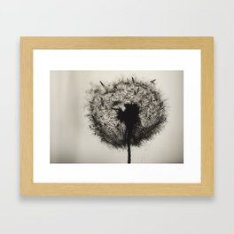Dandelion Birds [V2] Framed Art Print