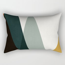Geometric landscape 05 Rectangular Pillow