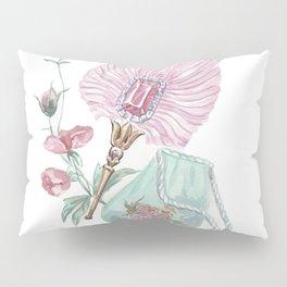 Fan and handbag in the style of Marie Antoinette Pillow Sham