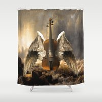 celestial Shower Curtains featuring Celestial Music by Diogo Verissimo