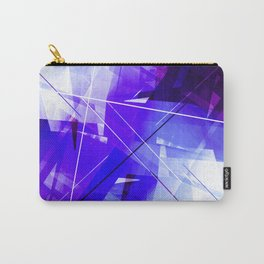 Indigo Chaos - Geometric Abstract Art Carry-All Pouch