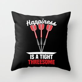 Happiness is a Tight Threesome   Darts Throw Pillow