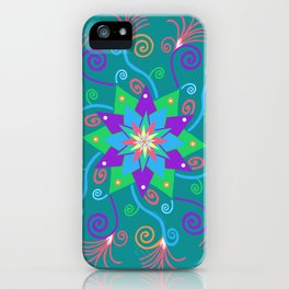 Dancing Star Mandala iPhone Case