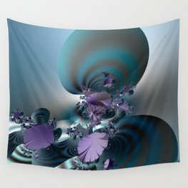 Purple leaves on radar of tranquility Wall Tapestry