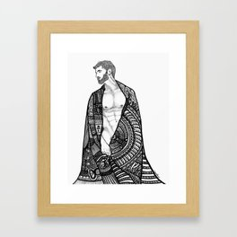 Robed male nude body Framed Art Print