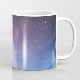 Pink Blue Glitter Galaxy Coffee Mug
