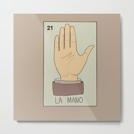 La Mano Card Metal Print