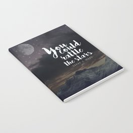 You could rattle the stars (moon included) Notebook
