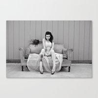charmaine olivia Canvas Prints featuring Olivia by Cherise Josephine