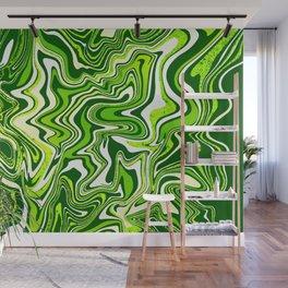 Green Glitter Agate Slice Wall Mural