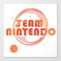 nintendo Canvas Prints featuring Team Nintendo by Bradley Bailey