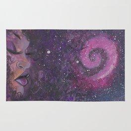 purple galaxy Rug