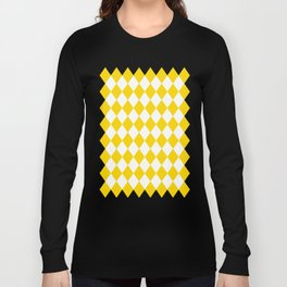 Diamonds (Gold/White) Long Sleeve T-shirt