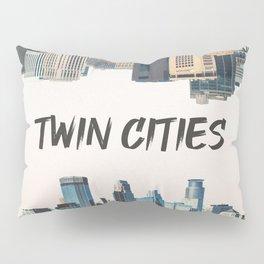 Twin Cities Minneapolis and Saint Paul Minnesota Pillow Sham