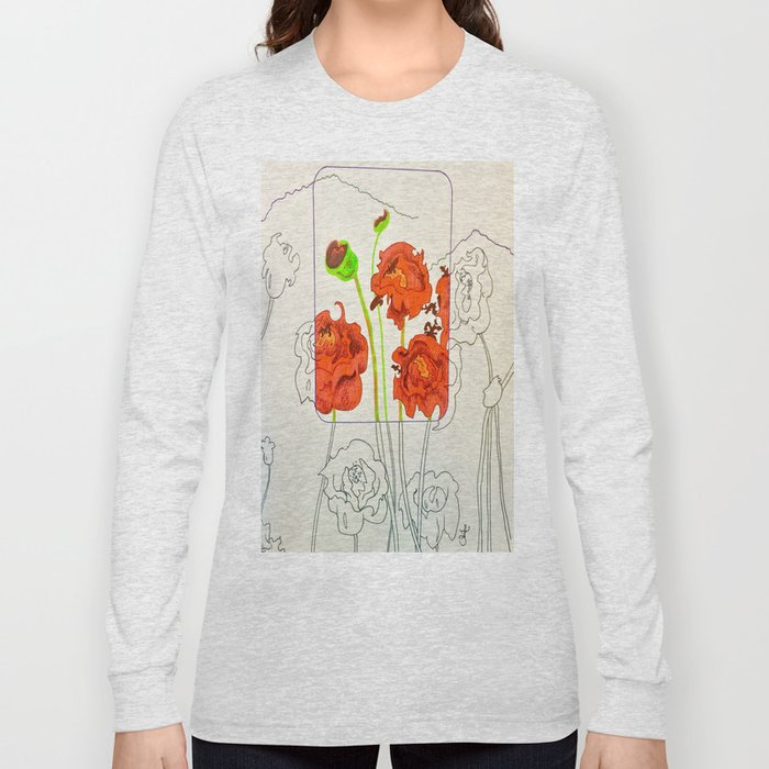 Perspective on Flowers Long Sleeve T-shirt
