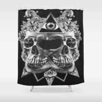 illuminati Shower Curtains featuring Illuminati II by NOXBIL