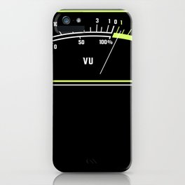 VU Meter Vintage Analog Hifi Design Funny sound engineer iPhone Case