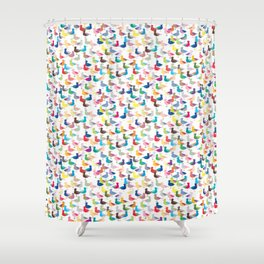 We're All the Same Seagull (repeat) Shower Curtain