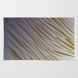 wild gold lines on blue Rug