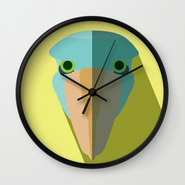 Shoebill Stork Icon Wall Clock